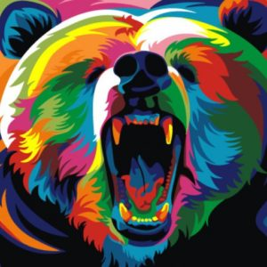 Paint by Numbers Kit Rainbow Bear T16130009