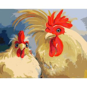 Paint by Numbers Kit Roosters T16130052