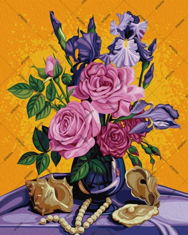Paint by Numbers Kit Rose bouquet T50400042