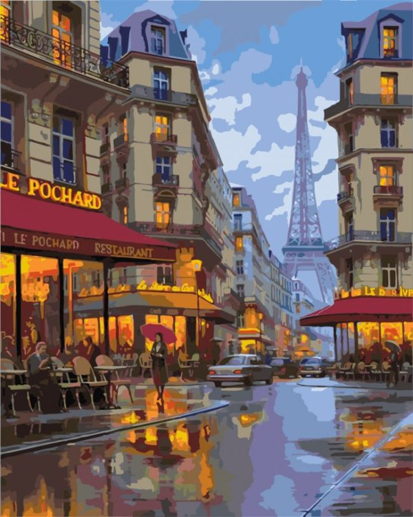 Paint by Numbers Kit Night in Paris T50400040
