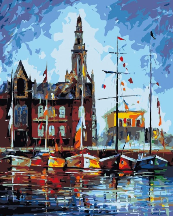 Paint by Numbers Kit Antverpen, Belgium T50400029