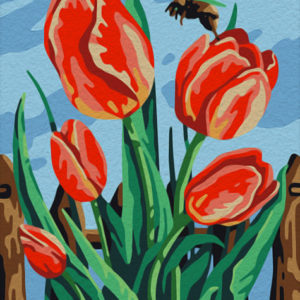 Paint by Numbers Kit Tulips 16.5x13 cm T16130062