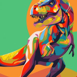 Painting by Numbers Rainbow Dinosaur 50x40cm T50400074