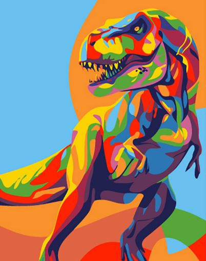 Painting by Numbers Rainbow Dinosaur 16.5x13cm T16130007