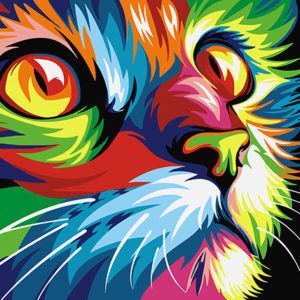 Painting by Numbers Rainbow Cat A4 29,7x21cm TA40108