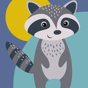Painting by Numbers Racoon A4 29,7x21cm TA40119