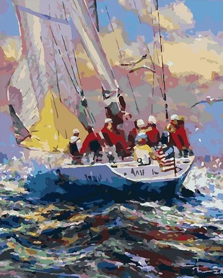 Painting by Numbers kit Regata 50x40cm T50400259