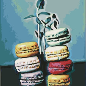 Wizardi Painting by Numbers Kit Macaron 40×50 cm T40500340