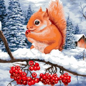 Wizardi Painting by Numbers Kit Rowanberry Dessert 40×50 cm L023