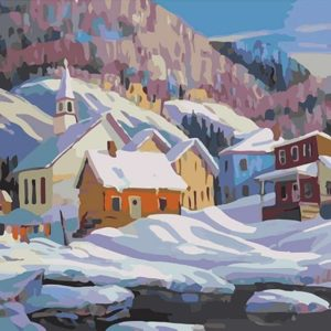Painting by Numbers Mountain Village 50x40cm T50400264